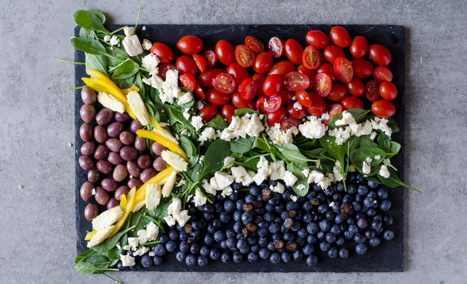 How to make a South African flag salad