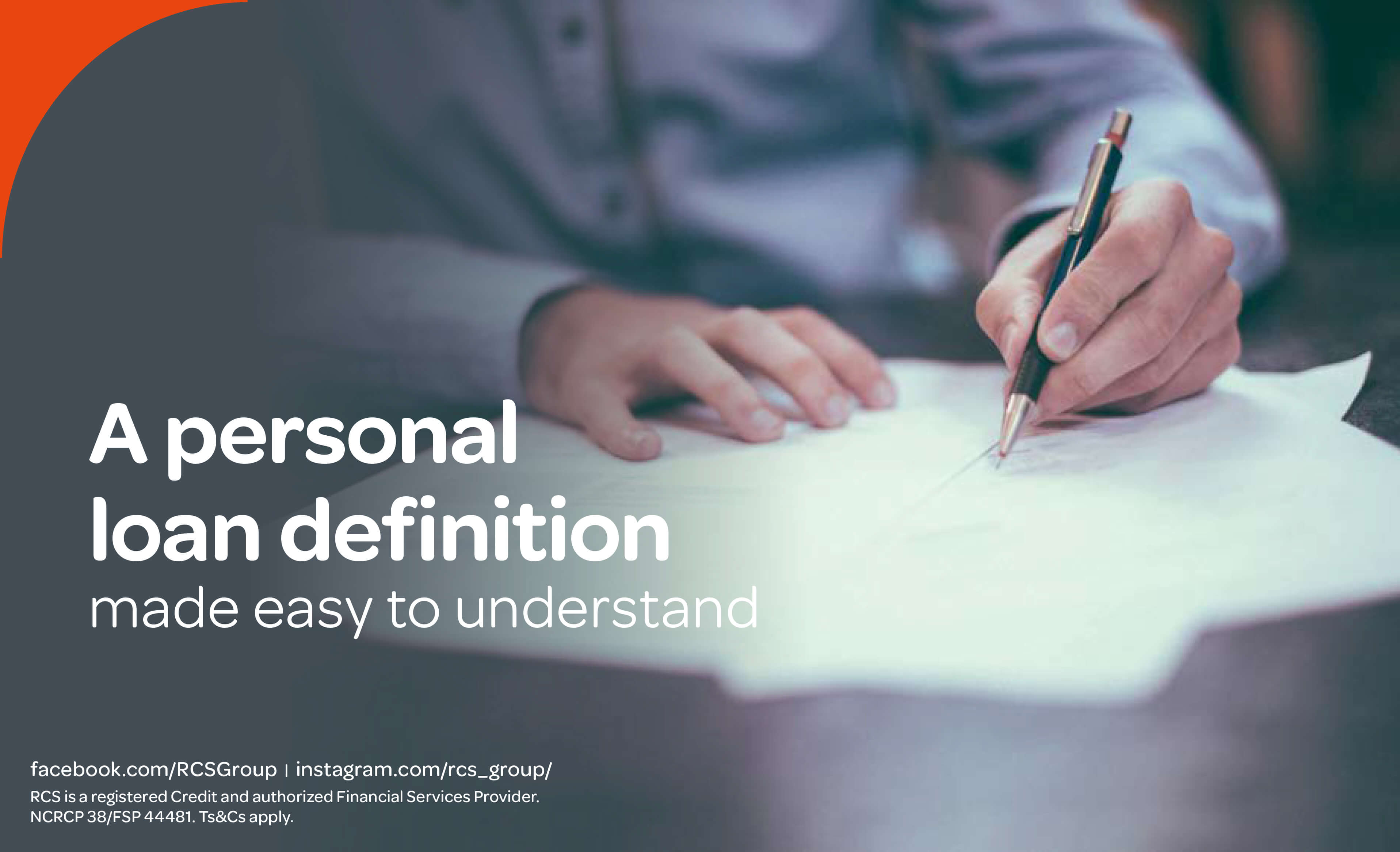 What is the definition of a personal loan? | RCS South Africa