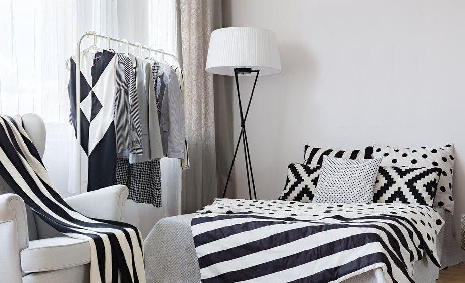 Storage solutions for bedrooms with no closets