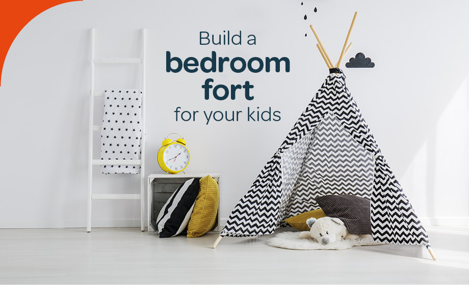 Build a permanent bedroom fort for your kids