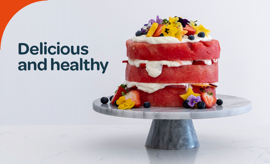 Watermelon cake – a healthy summer indulgence