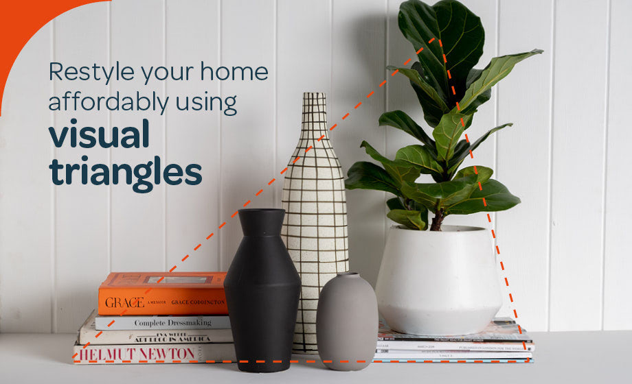 Restyle your home affordably with visual triangles