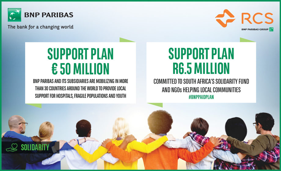 Press: BNP Paribas mobilises emergency support plan in South Africa in response to the global health crisis